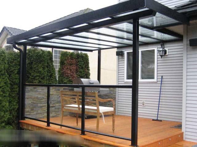Glass patio cover - Patio Cover Photos, Deck Cover Photos, Aluminum Railing Systems, Decks